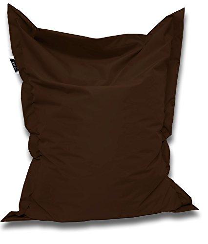 Patchhome Sitzsack und Sitzkissen Eckig - Braun - 180x145cm in 25 Farben und 7 versch. Größen