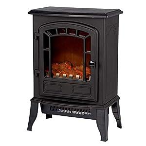 Classic Fire ' Torino' -Chimenea eléctrica con Fuego Eléctrico-2000 W-25x39x56, (L/B/H), Negro, 25x39x56,5cm