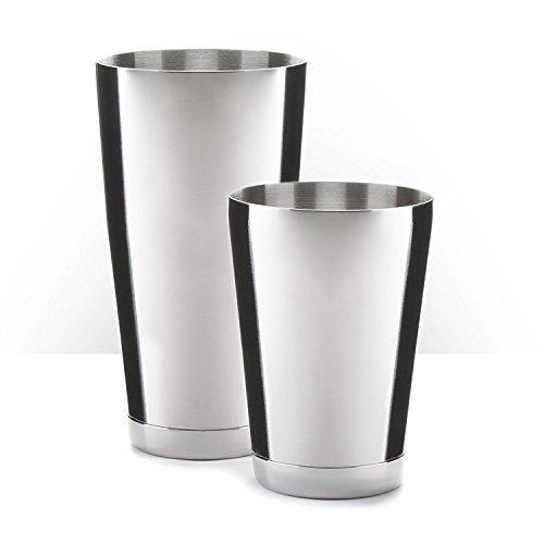 Piña Barware - Edelstahl Paar Bar Shaker Handelsqualität - 825mL (28oz) & 525mL (18oz) - Bar Shaker