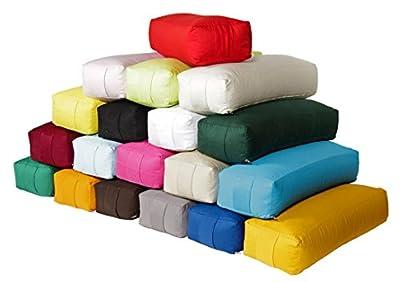 Yoga und Pilates Rechteckbolster / Yogakissen Made in Germany, L 60 x B 20 x H 14 cm, Innen & Außenhülle 100% Baumwolle, Füllung: Bio-Dinkelspelzen, Bezug & Inlett (ohne Füllung) maschinenwaschbar bis 30ºC