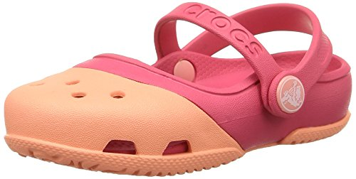 crocs Electro II, Mädchen Mary Jane Halbschuhe, Pink (Melon Poppy), 20/21 EU (Mary Jane-comfort-clogs)