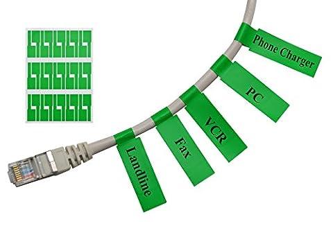 Mr-Label Auto-adhésif autocollant Étiquette de câble - étanche | Résistant à la déchirure | Durable - avec en ligne gratuit outil d'impression (20 Feuilles (600 Étiquettes), Vert)