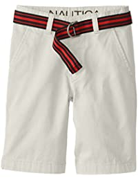 Nautica Boys' Classic Belted Flat-Front Short