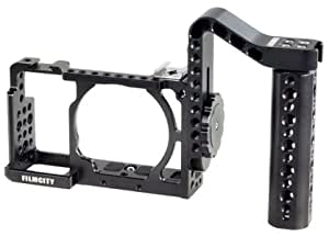 Filmcity DSLM Camera Cage with Detachable Handle for Sony Alpha A6000 A6300 ILCE-6000 6300 NEX-7 (FC-A6360-CSH)