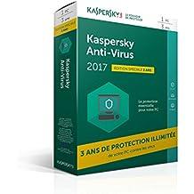 Kaspersky Anti-Virus 2017 édition limitée | 1 poste | 3 ans | PC | Téléchargement