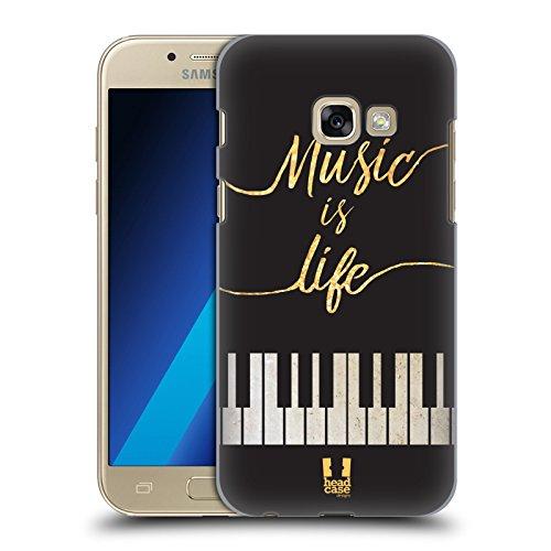 Head Case Designs Leben Piano Musik Kunst Ruckseite Hülle für Samsung Galaxy A3 (2017)