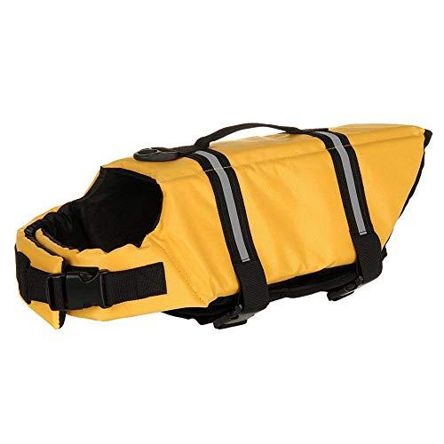Vektenxi Pet Badebekleidung Pet Badeanzug Pet Safty Jacket Pet Schwimmwesten Pet Schwimmweste fit für Hunde und Katzen S Größe gelb