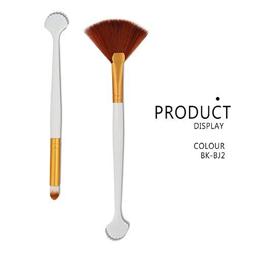 DaySing Brosse Makeup Brushes,Professionnelle Kits ,2Pcs Kit De Maquillage Pinceau De Maquillage CosméTique Blush Blusher Makeup Brushes Brush Beauté Maquillage