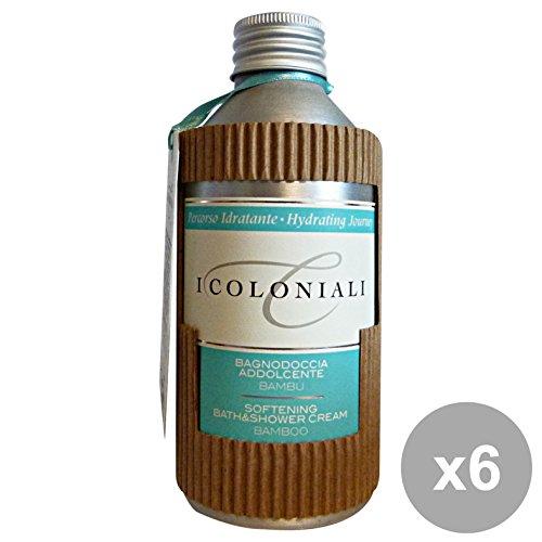 Set 6 I COLONIALI Bagno Addolcente BAMBU' 250 Ml. Saponi e cosmetici
