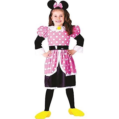 Dress Up America - 758-S - Déguisement de Minnie - 4-6ans - taille 99-115cm - Multicolore