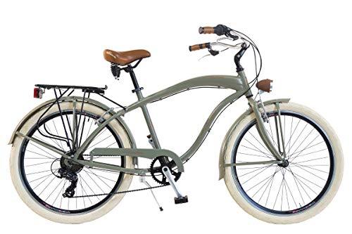 Via Veneto by Canellini Bicicleta Bici Citybike CTB Hombre Vintage Via Veneto American Cruiser Aluminio (Verde Mat)