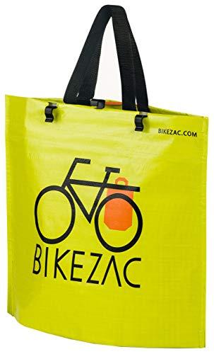 fahrrad einkaufstasche BIKEZAC® Clip-On EINKAUFS-FAHRRADTASCHE (Einseitige Einkaufstasche Faltbar Wasserabweisend Trageschlaufen), BikeZac:Green
