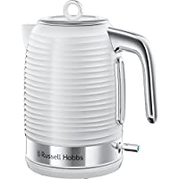 Russell Hobbs 24360 Inspire Electric Kettle, 3000 W, 1.7 Litre, White with Chrome Accents
