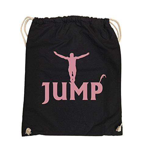 Comedy JUMP Bags FIGUR Schwarz Rosa 37x46cm Turnbeutel Schwarz Farbe Pink TrT6w5