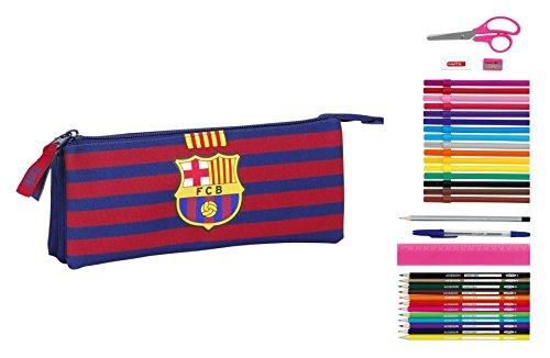 F.C. Barcelona - Portatodo Triple Lleno, 22 x 9 cm (Safta 811529706)