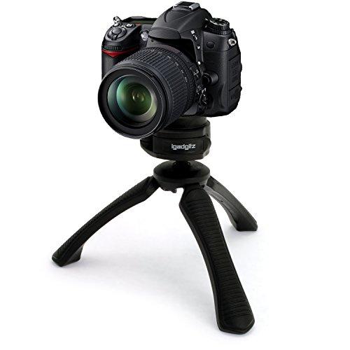 Galleria fotografica igadgitz Mini Treppiede da Tavolo Stabilizzatore Manico per Canon EOS SLR DSLR Series Fotocamere 450D 550D 550D 600D 650D 700D 750D 760D 100D 1000D 1100D 1200D