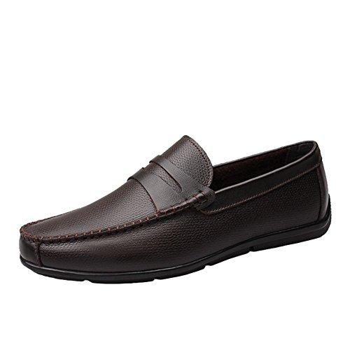 Sk studio mocassini da uomo pelle scarpe da barca eleganti casuale loafers slip on nero scarpe di guida marrone