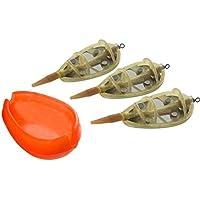 lpyfgtp Angelfutterstation K/öderk/äfig Zinklegierung 30g//40g//50g Karpfenangeln Inline Method Feeder mit Perlen-Zubeh/ör