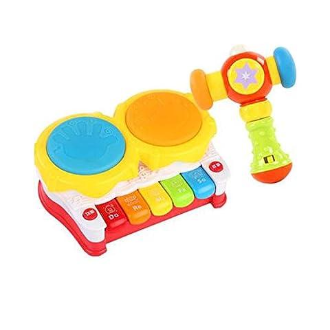 Musical Electric Baby Toys Ensemble de percussion à tambour à main pour enfants, Story Drum @ Music Hammer