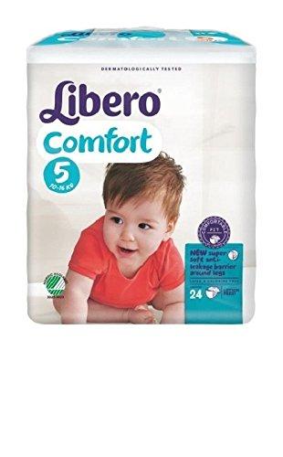 Pannolini Libero Comfort Misura 5 - Kg 10/16 - 192 pezzi (8 pacchi da 24)