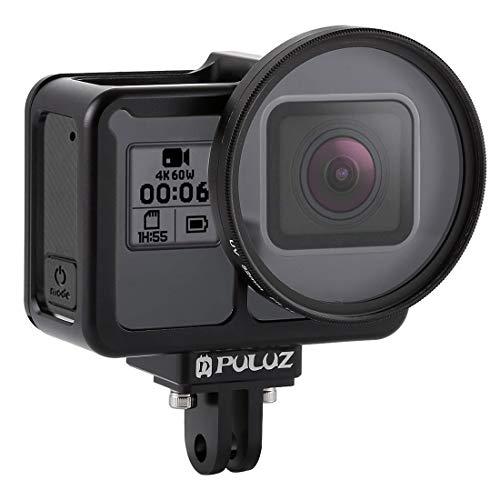 PULUZ Aluminium-Hülle für GoPro Hero 7 Schwarz New Hero (2018) GoPro Hero 6/5 Aluminiumlegierung-Hohlgeschnitzter Design-Gehäuse Schutzkorb Schutzgehäuse Perfektes GPS-Datensignal