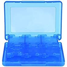 Mudder 28 en 1 Carte de Jeu Rangement Protection pour 3DS XL 3DS 2DS DSi XL DSi DS Lite et DS, Bleu
