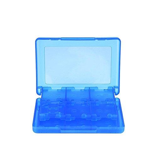 Mudder 28 en 1 Tarjeta de Juego Estuche Protector, Soporte Organizador para 3DS XL 3DS 2DS DSi XL DSi DS Lite y DS, Azul