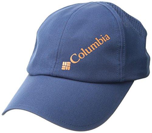 Columbia Herren Silver Ridge Ball Cap Kappe, Größenverstellbar, Einheitsgröße, blau (carbon/heatwave), CL9981