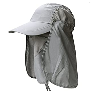 Aikesi 1Pcs Outdoor Fisherman Hat Desert Digital Photo Hat Pennys cap Cotton Soft Spring and summer CP Camouflage Caps Foldable Jungle Rounded Edge Cap,Light grey