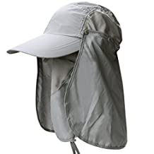 adce86159fb8d Leisial Sombrero Pesca del Sol Gorra al Aire Libre de Protección Solar  Transpirable Cap Sombrero de