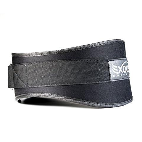 Performance Poids de levage Ceinture 14cm arrière Support lombaire–Velcro réglable de forme ergonomique pour musculation, puissance de levage–Olympiques soulève, L