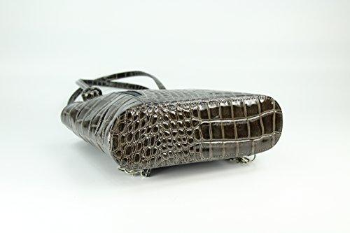 Belli zaino borsetta a tracolla in pelle italiana 2-in-1–scelta di colori, 28x 28x 8cm (L x A x P) Grigio (grigio)