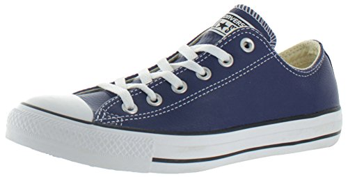 Converse  Chuck Taylor All Star Adulte Seasonal Leather OX, Baskets mixte adulte Bleu - Bleu marine