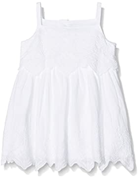 Mamas & Papas Baby-Mädchen Kleid Strpy Emb Dress-White
