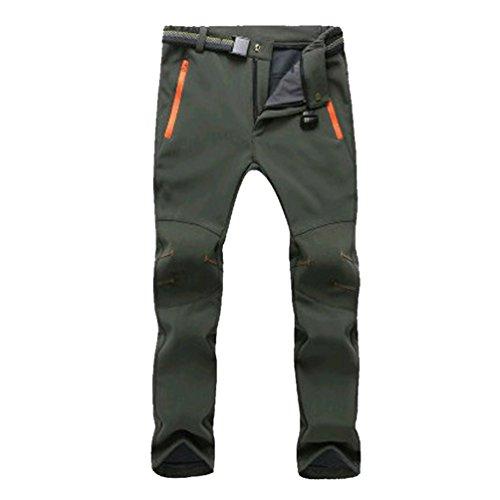 YiLianDa Donna Softshell Pantaloni da Montagna Pantaloni da Trekking Impermeabili Elasticizzati da Escursione Outdoor Autunno Inverno