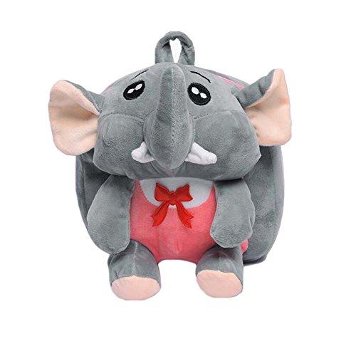 Black Temptation Lindo pequeño Elefante Felpa Mochila Mochilas Escolares Bolsos Multiusos Regalo de los niños