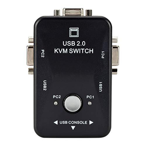Floridivy USB2.0-Handbuch Audio Video VGA Switcher Zwei Eingänge EIN Ouput KVM Switch Box Switcher Adapter