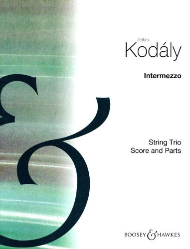 Intermezzo per Trio d\'Archi: Streichtrio. Partitur und Stimmen.