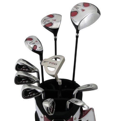 World Eagle f-01Alfa Herren Golf Komplett Set mit WhiteRed Tasche rechts flex-s 14teilig