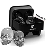Best Ice Cube Trays With Covers - 3D Skull Ice Cube Tray,Spespo Silicone Ice Cube Review