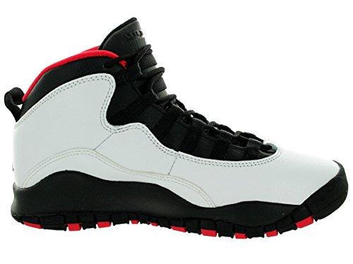 Nike Jr Hypervenom phade Ic, Volt / persiano viola-Hot Lava-nero, Formato Youth 4 Bianco/nero-rosso (White/Black-True Red)