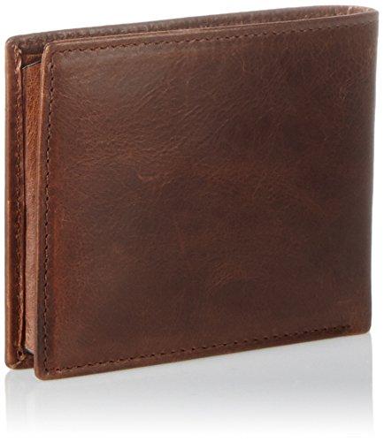 Fossil Herren Ryan Geldbörse, 1.9 x 8.9 x 10.8 cm Braun (Dark Brown)