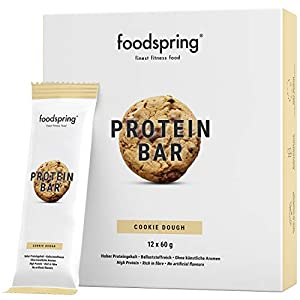 foodspring Protein Riegel Cookie Dough, 12er Pack Eiweißriegel ohne...