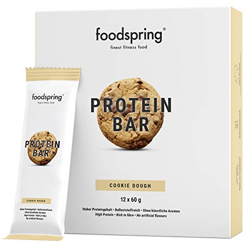 foodspring Protein Riegel Cookie Dough, 12er Pack...