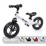 KORIMEFA Bicicleta de Equilibrio sin Pedales para Niños de Aleación de Magnesio Bicicleta Infantil para Andar Niños y Niñas de 18 Meses a 5 años (Blanco)