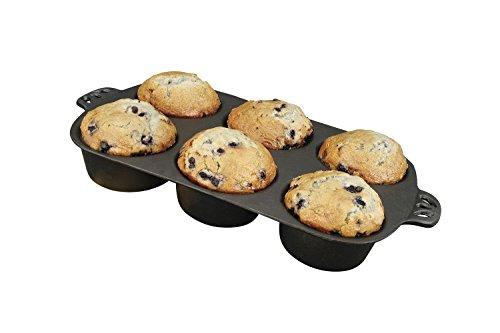 Camp Chef Gusseisen Backform für 6 cm Muffins Seasoned Cast Iron Muffin Pan