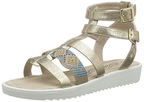 Tom Tailor Kids Tom Tailor Kinderschuhe, Mädchen Römersandalen Sandalen, Gold (gold), 36 EU