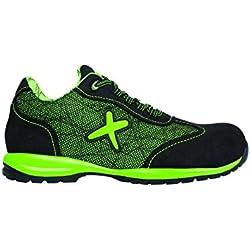 Exena Jerez - Calzado de protección laboral, talla 44, color verde y negro