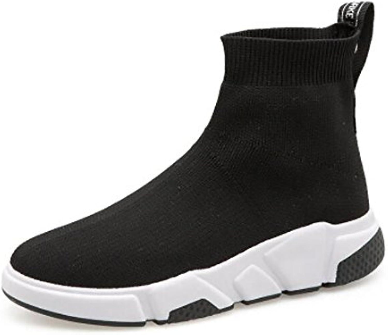 JIANF Señoras Cordones Deportivos Comfort Runners Zapatos de Punto Elástico Zapatillas al Aire Libre Zapatos de...