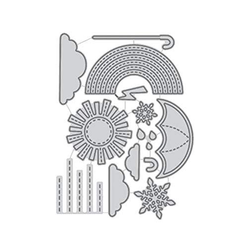 Plantillas de metal para troquelado de paraguas y nubes de arcoíris, para álbumes de recortes, manualidades, decoración de tarjetas de papel, troqueles, China